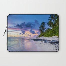 Picturesque Beach View (Color) Laptop Sleeve