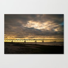 Waiting on the Sun to set Canvas Print