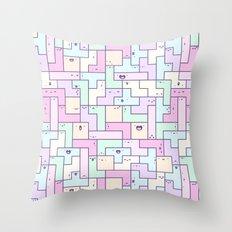 Kawaii Tetris Throw Pillow