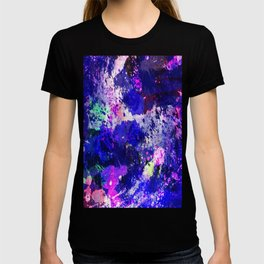 Freedom - Abstract In Blue And Purple T-shirt