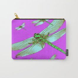 PANTENE ULTRA VIOLET PURPLE EMERALD DRAGONFLIES ART Carry-All Pouch