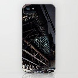 City VI - Urban City Metropolis Industrial Train Tracks  iPhone Case