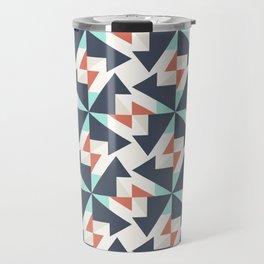 Abstract Contemporary Geometric Retro Pattern 08 Travel Mug