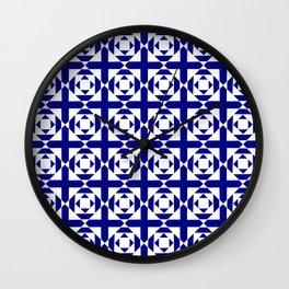 Symmetric patterns 134 Dark Blue Wall Clock