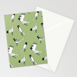 Bird Print - Olive Green Stationery Cards
