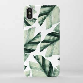 Tropical Banana Leaves Vibes #1 #foliage #decor #art #society6 iPhone Case