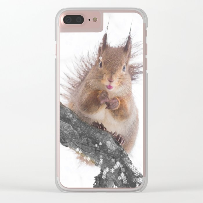 Little squirrel - smack! Clear iPhone Case