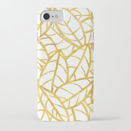 Sketchy Palms in Gold iPhone Case