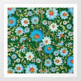 Art Flowers V10 Art Print