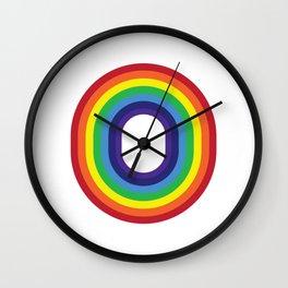 Rainbow Monogram - Letter O Wall Clock