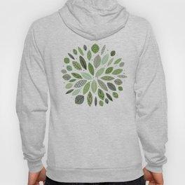 Mid-Century Green Leaves Hoody