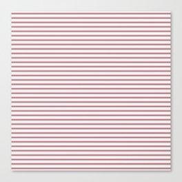 Dark Red Pear Mattress Ticking Narrow Striped Pattern - Fall Fashion 2018 Canvas Print