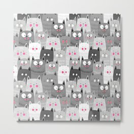 So Many Cats Metal Print