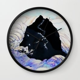 Mountain in the Sea Wall Clock