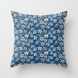 Blue Glory of the Snow Throw Pillow