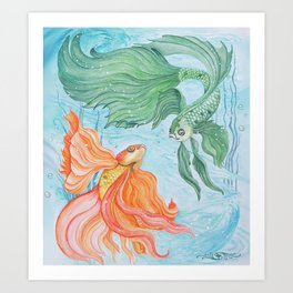 Betta Dance Art Print
