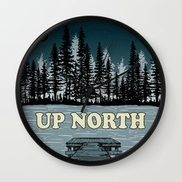 Up North at Night Wall Clock