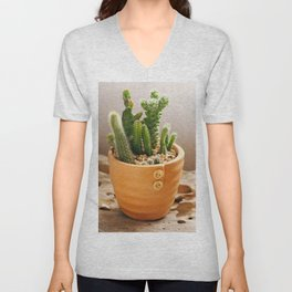 Cactus Garden Unisex V-Neck