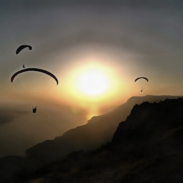 Paragliders Flying Without Wings Comforters