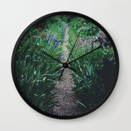 Walking through the Flowers Wall Clock