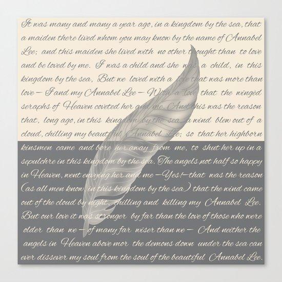 ANNABEL LEE (Allan Poe) Canvas Print