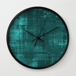 Teal Green Solid Abstract Wall Clock