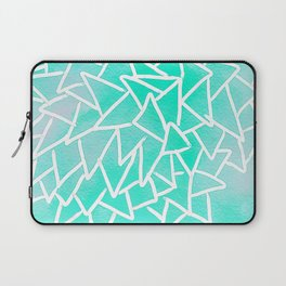 Blue turquoise watercolor geometric triangles Laptop Sleeve