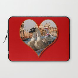 Geese on a Romantic Gondola Ride Laptop Sleeve