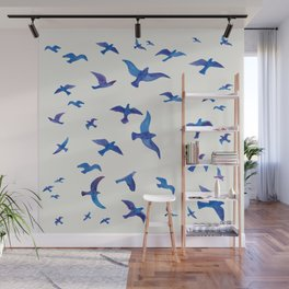 Blue Birds Wall Mural