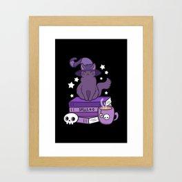 Feline Familiar 02 // Black Framed Art Print