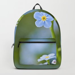 Delicate blue wild flowers Backpack