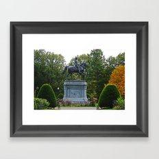 Washington Statue Framed Art Print