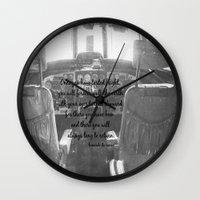 da vinci Wall Clocks featuring Flight Skyward Da Vinci by KimberosePhotography