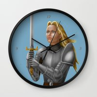 knight Wall Clocks featuring Knight by Egberto Fuentes