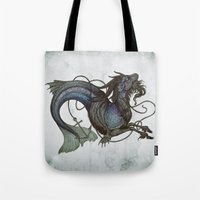 capricorn Tote Bags featuring Capricorn by Caitlin Hackett