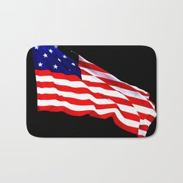 These Colors Never Run - American Flag Patriotic, Red White & Blue, Stars & Stripes, Old Glory Bath Mat