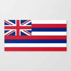 State flag of Hawaii - Authentic version Canvas Print