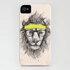 Hipster lion (light version) Slim Case iPhone (4, 4s)