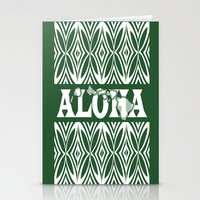 aloha Stationery Cards featuring ALOHA by Lonica Photography & Poly Designs