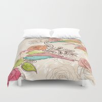 country Duvet Covers featuring Country Garden by Amanda Dilworth