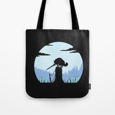 Grey Wolf Sif (Dark Souls) - in black Tote Bag