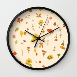 signs of fall Wall Clock