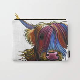 Scottish Highland Cow ' PoDGER ' by Shirley MacArthur Carry-All Pouch