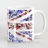 union jack Mugs featuring Union Jack by David T Eagles