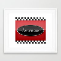 american Framed Art Prints featuring American by politics