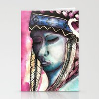 native american Stationery Cards featuring Native by Siriusreno