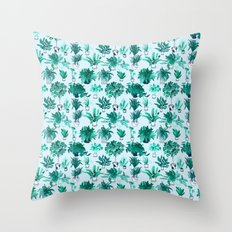 Houseplants All Over The Place Throw Pillow