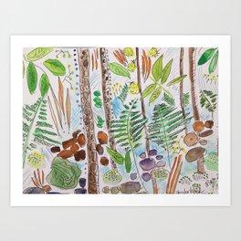 Woodland Life Art Print