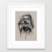 dali Framed Art Prints featuring Dali by nicebleed