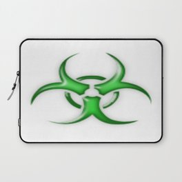 Green Biological Hazard Symbol Laptop Sleeve